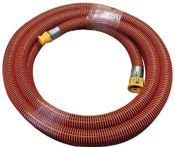 PVC HORNET BLACK/ORANGE H/D SUCTION HOSE ASSY - 50MM X 10.0MTR C/W